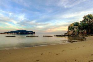 Particolare della spiaggia di Fontania