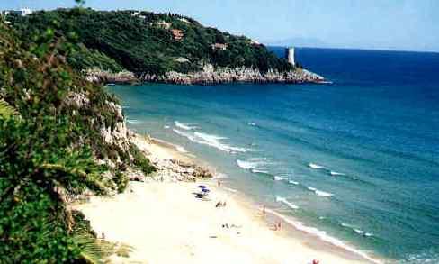veduta della spiaggia dell'Arenauta