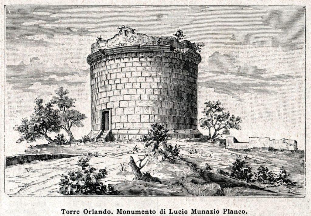 riproduzione del Mausoleo di Lucio Munazio Planco