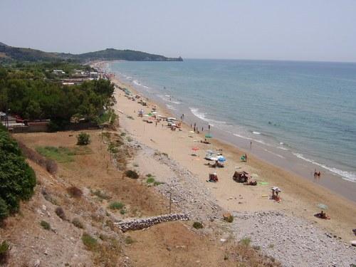 veduta della spiaggia di sant'Agostino